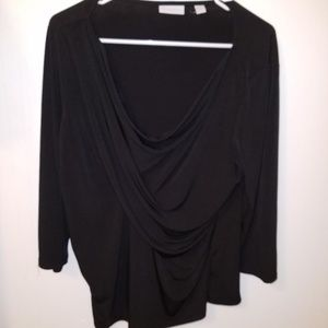 NY&CO Black Cowl Neck Top XL